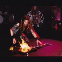 guitar on fire by Kurt Callahan_